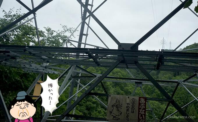 鉄塔の下から再び見上げる