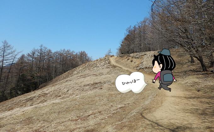 ブナ坂の登り