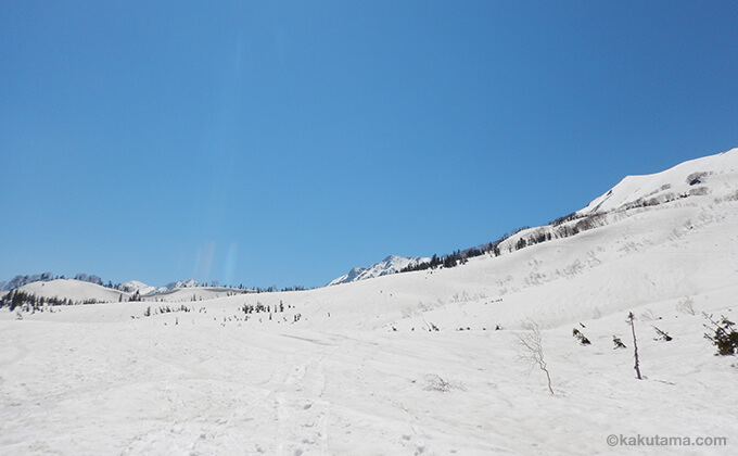 雪原と山々が広がる3