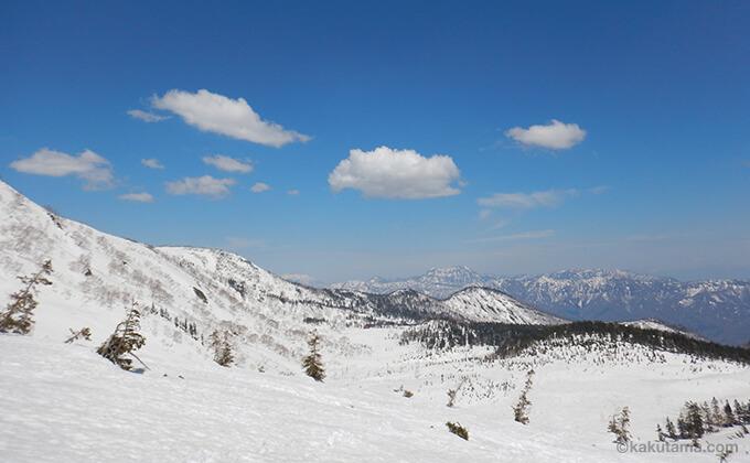 雪原と山々が広がる6