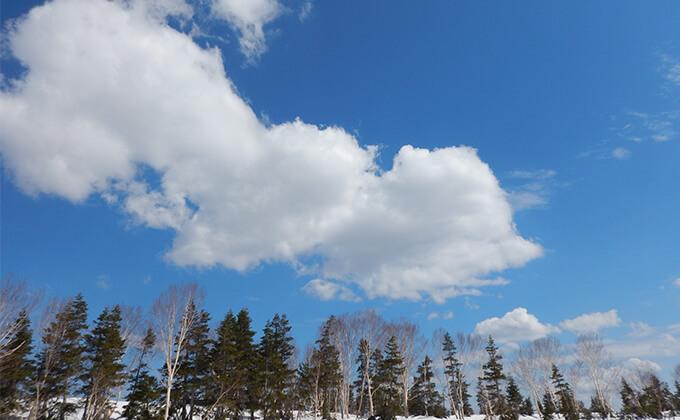 雪原と空が近い
