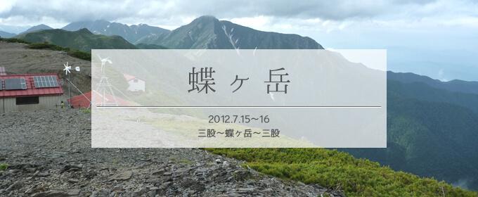 タイトル蝶ヶ岳