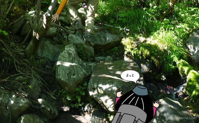 また岩場を登る