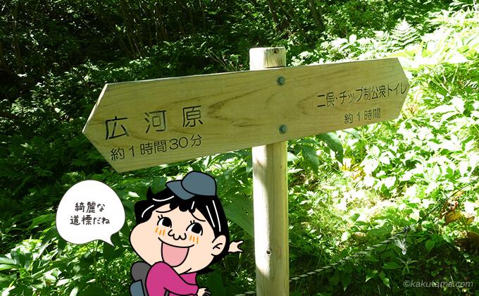 北岳へのわかりやすい道標
