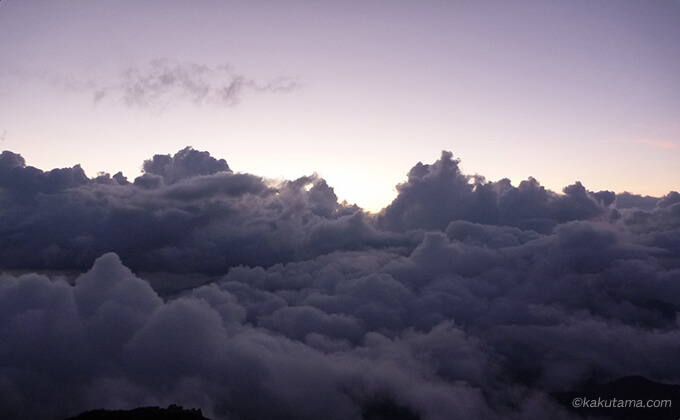 雲海がスゴイ