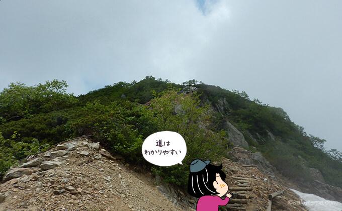 針ノ木岳の道はわかりやすい