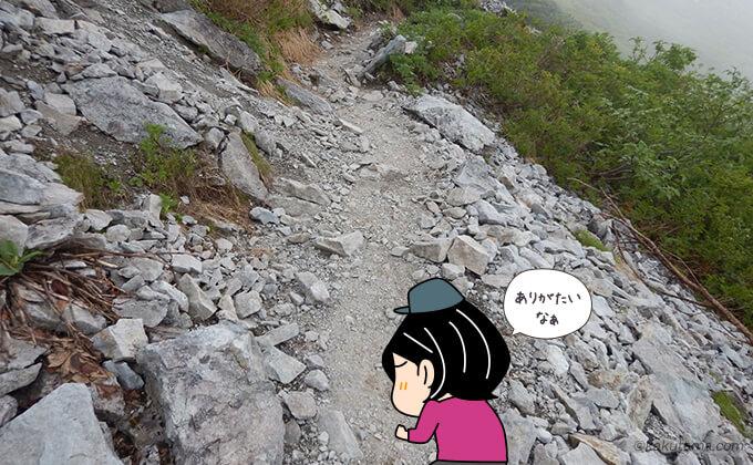 登山道は整備されている
