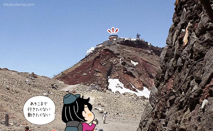 剣ヶ峰山頂を見る