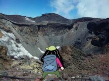 富士山のお釜を望む