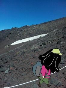 雪渓を見る