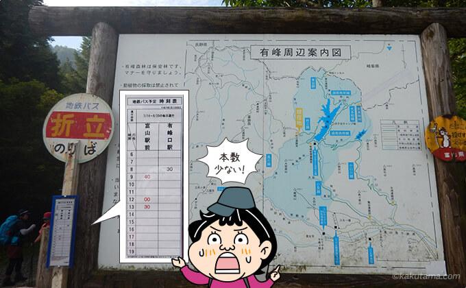 折立のバス時刻表