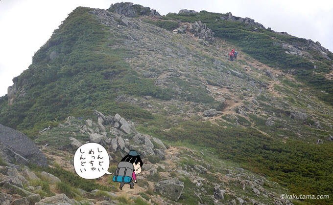 ワリモ岳登る