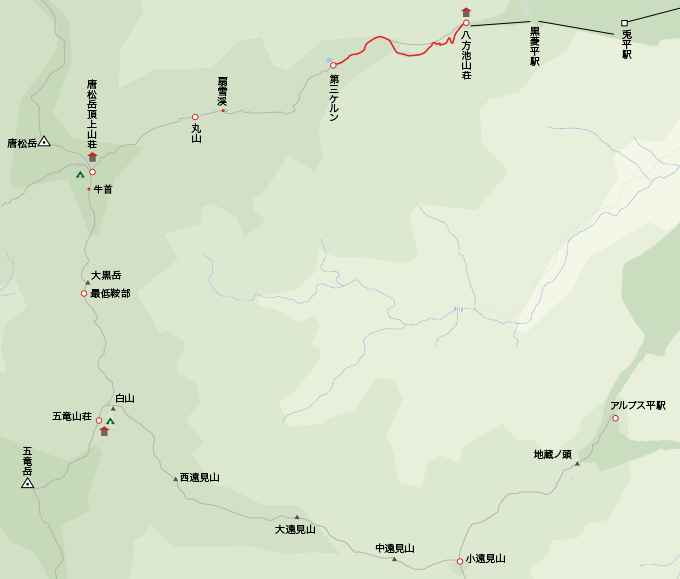 地図八方トレッキングコース