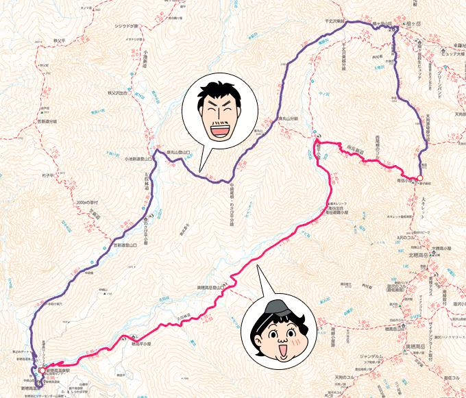 当初の予定地図