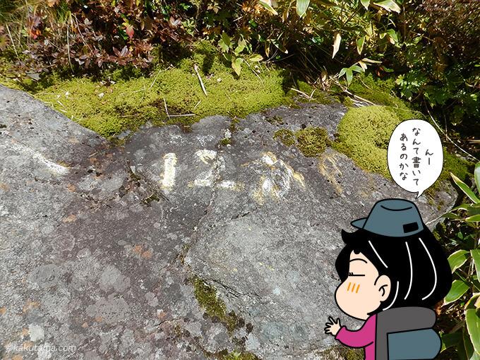 焼岳小屋までの標識が読めない