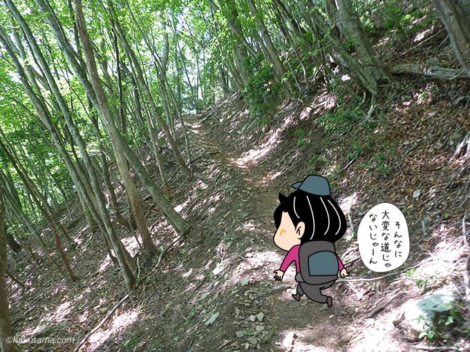 稲村岩尾根を登り始める