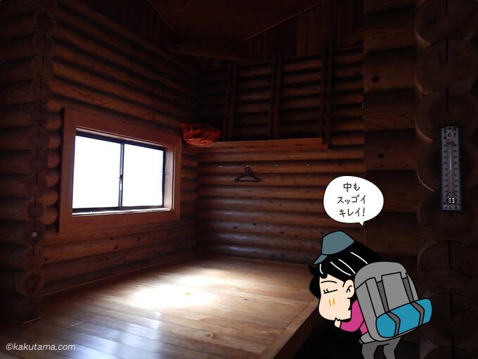 鷹ノ巣避難小屋内部