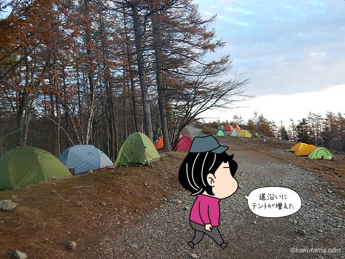 奥多摩小屋のテント場