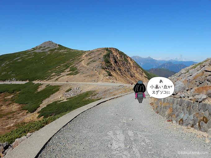 富士見岳が見える
