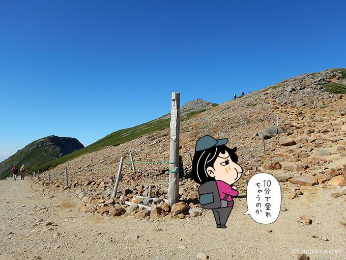 富士見岳まで10分