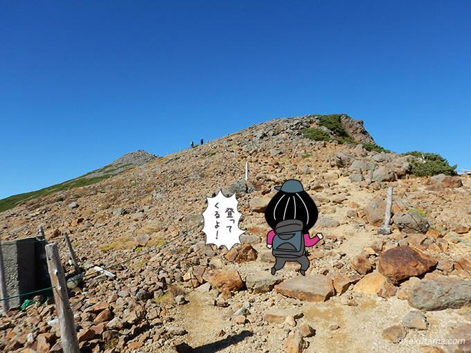 富士見岳を登ることに