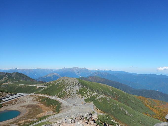 富士見岳山頂から見える景色