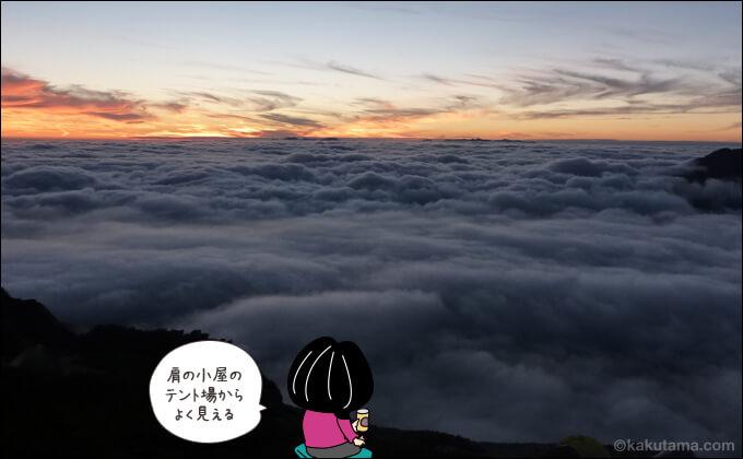北岳からの雲海