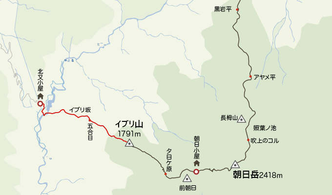 地図イブリ山