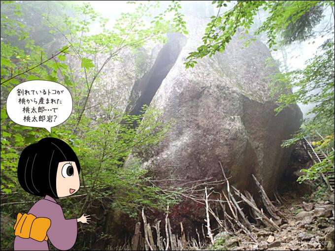 瑞牆山の桃太郎岩