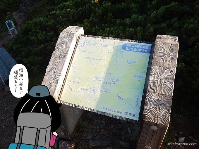 栂海新道の地図