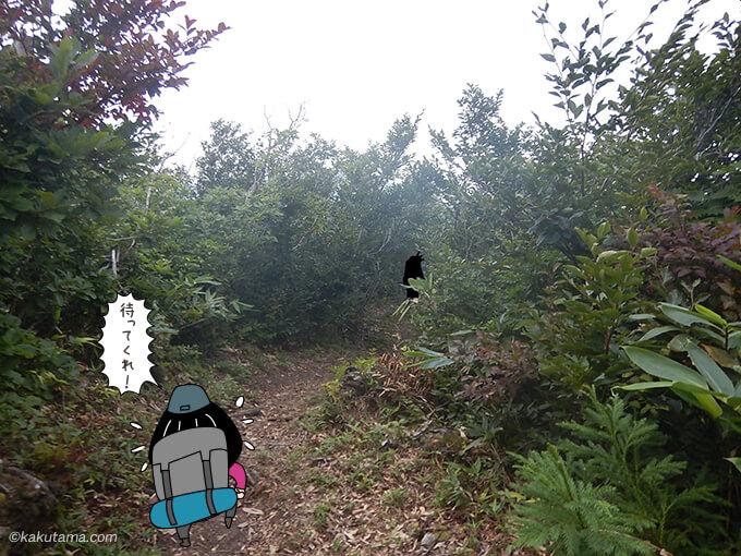 下駒ヶ岳から歩き出す