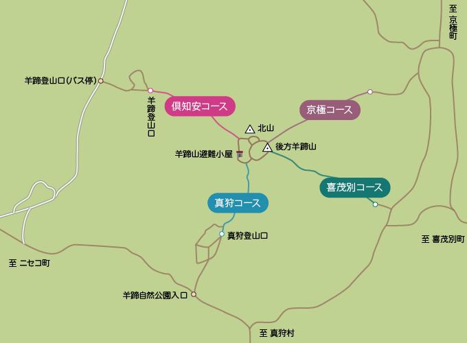 羊蹄山のコースマップ