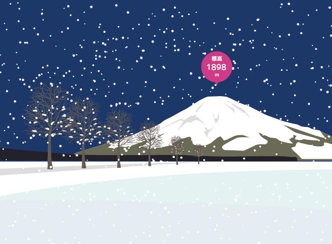 北海道羊蹄山のイラスト