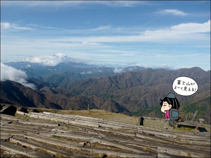 山頂から見える山々