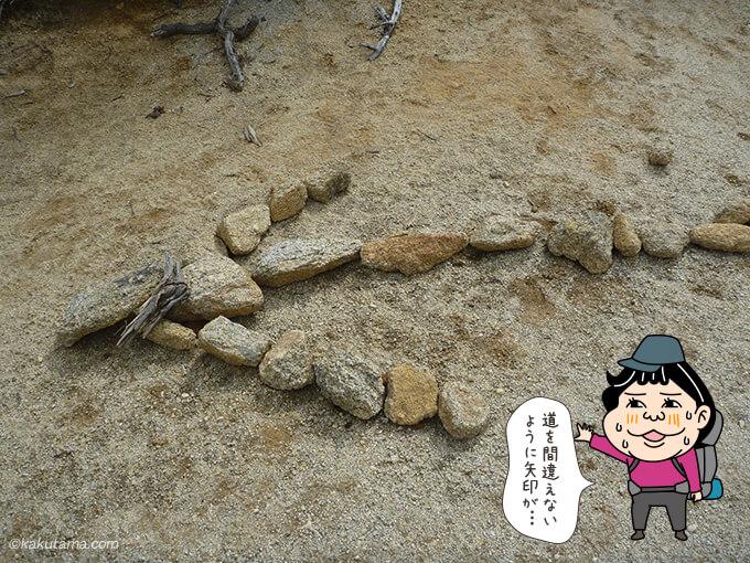 石で道標が作ってある