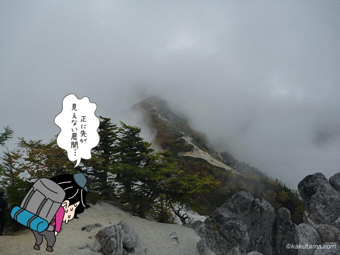 遠くに見える観音岳