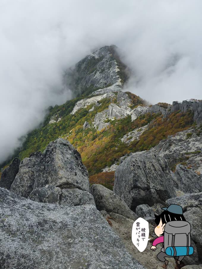 観音岳から見る薬師岳方向