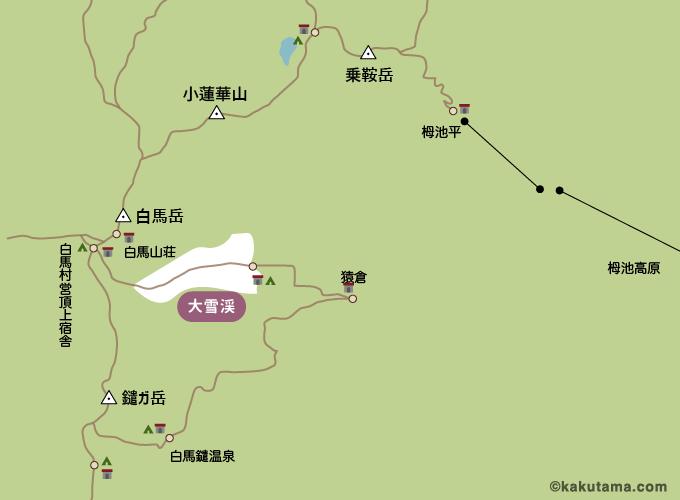 白馬岳コースマップ