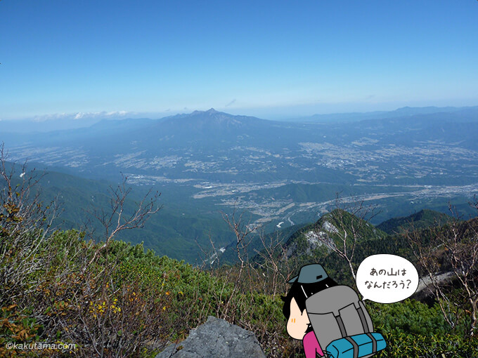 高嶺山頂から見下ろす下界