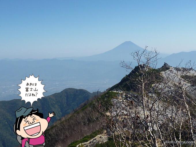 遠くに見えるは富士山