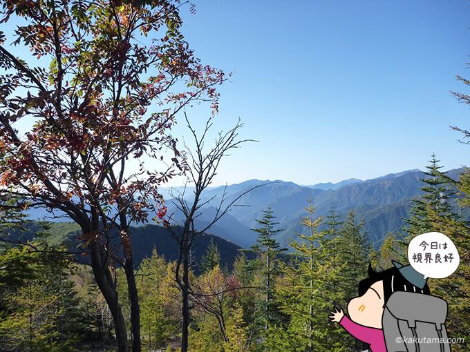 夜叉神峠へ下山