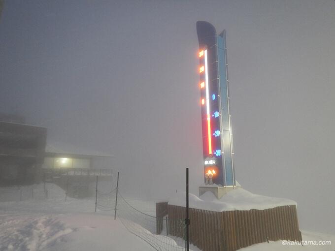 ニセコひらふのセンターフォーの気温計