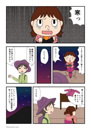 富士登山編(17)防寒具と光
