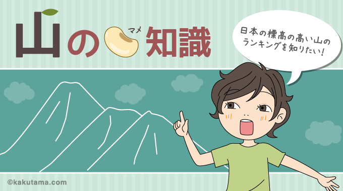 日本の標高の高い山ランキングタイトル画面