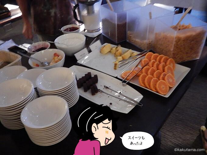 ワン・ニセコ・リゾート・タワーズの朝食バイキングのスイーツ