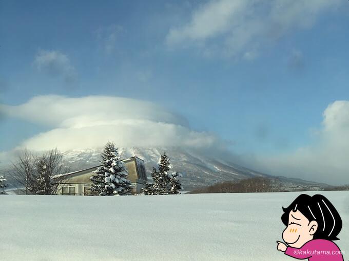 やっと見れた羊蹄山