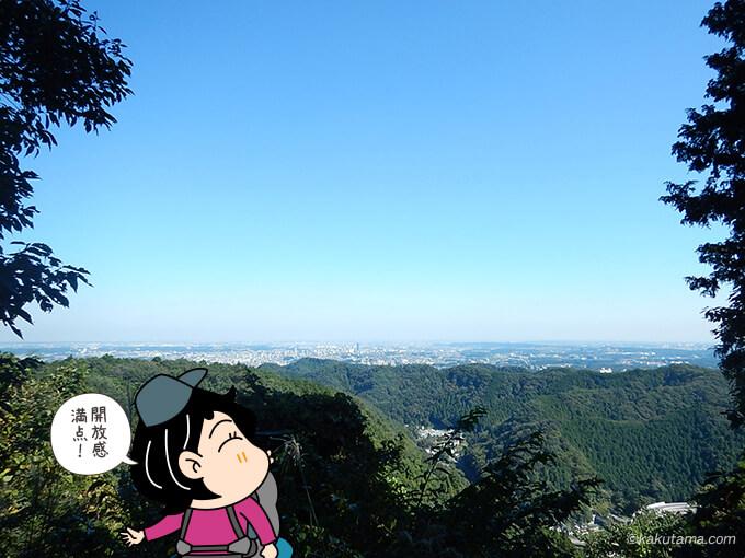 稲荷山コースから見える町並み