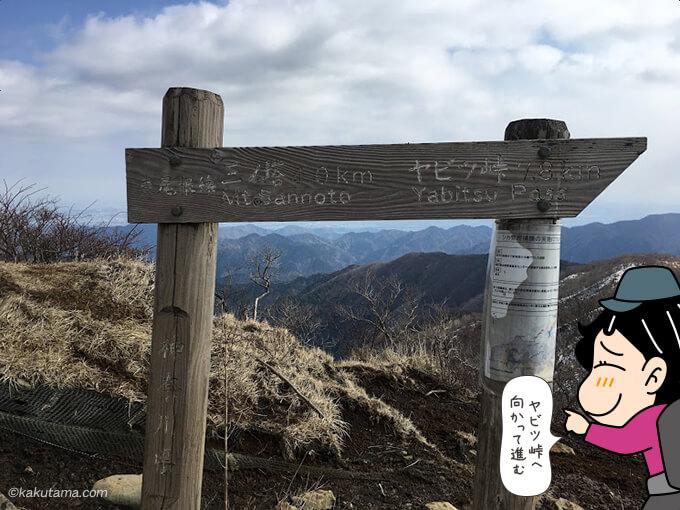 ヤビツ峠へ向かって下山開始