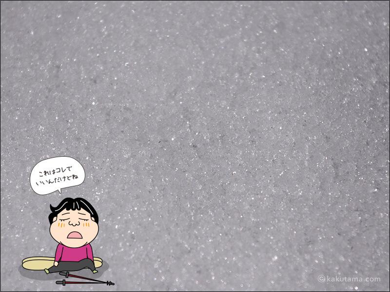 ザラメ雪の写真