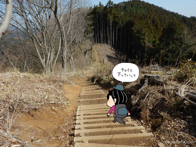 階段を下る